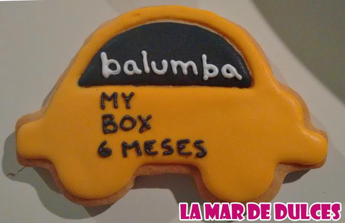 Galletas decoradas de coche para Balumba Sevilla