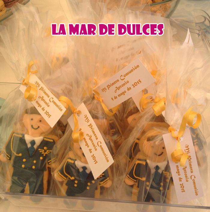 Galletas decoradas de almirante para Comunión Sevilla
