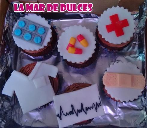 Cupcakes decorados para enfermera Sevilla