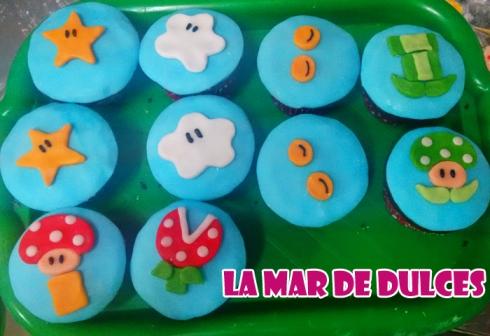 Cupcakes de Mario Bros para Comunión Sevilla