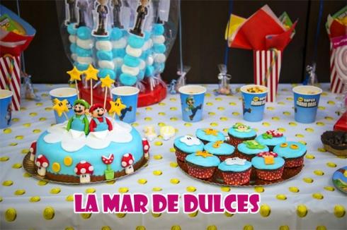 Tarta y cupcakes de Mario Bros para Comunión Sevilla