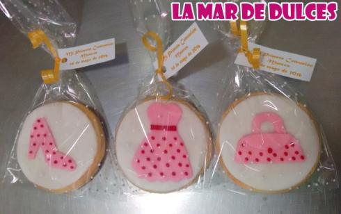 Galletas decoradas bolso, zapato y vestido Sevilla