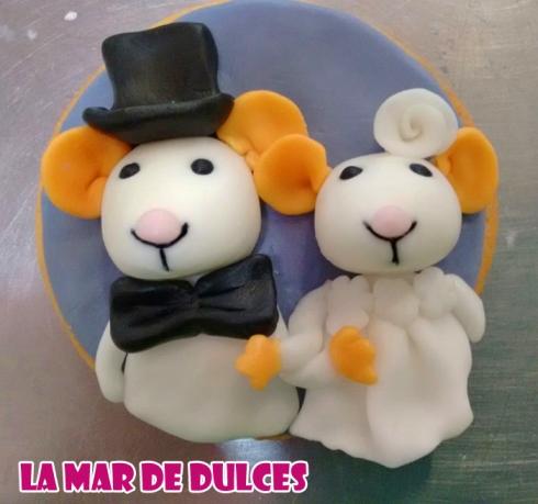 Galletas decoradas de ratones para boda Sevilla