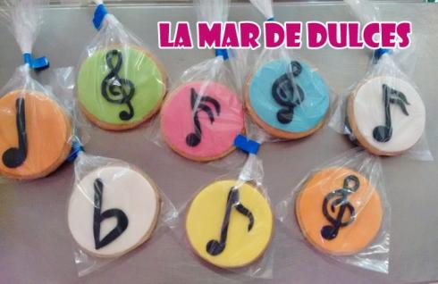Galletas decoradas de notas musicales Sevilla