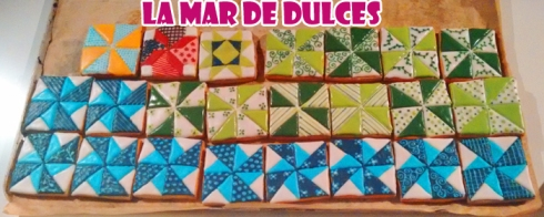 Galletas decoradas de patchwork Sevilla